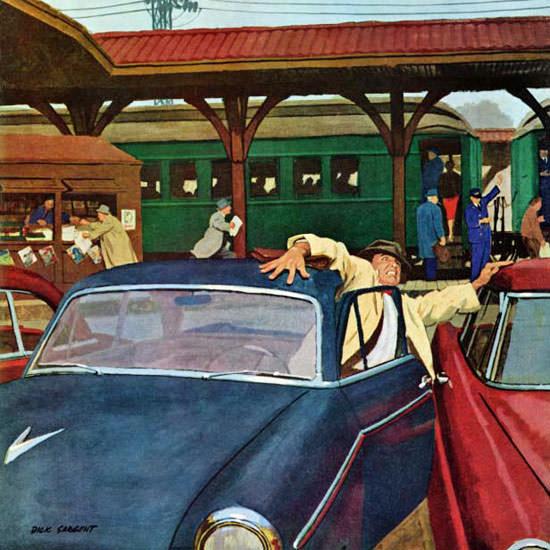 Richard Sargent Saturday Evening Post Park 1960_03_05 Copyright crop   Best of Vintage Cover Art 1900-1970