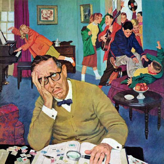 Richard Sargent Saturday Evening Post Quiet 1960_05_14 Copyright crop | Best of Vintage Cover Art 1900-1970