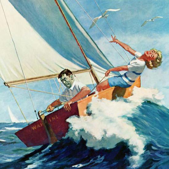 Richard Sargent Saturday Evening Post Seasick 1959_08_22 Copyright crop | Best of Vintage Cover Art 1900-1970