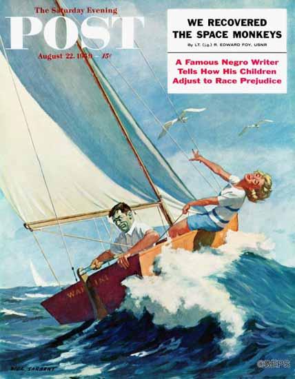 Richard Sargent Saturday Evening Post Seasick Sailor 1959_08_22   The Saturday Evening Post Graphic Art Covers 1931-1969