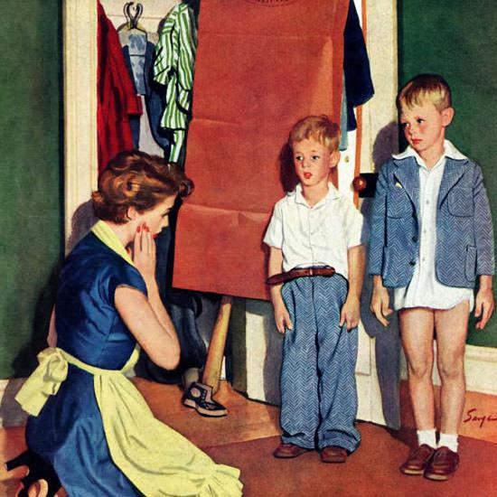 Richard Sargent Saturday Evening Post Sons 1952_09_20 Copyright crop | Best of Vintage Cover Art 1900-1970