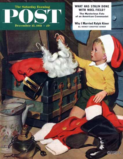 Richard Sargent Saturday Evening Post Truth About Santa 1951_12_15 | The Saturday Evening Post Graphic Art Covers 1931-1969
