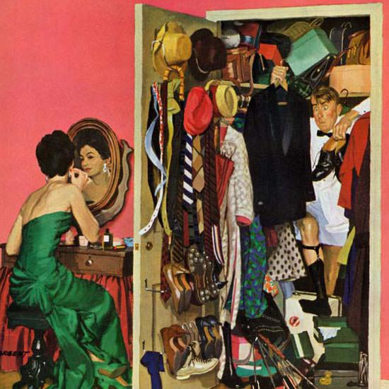 Richard Sargent Saturday Evening Post Tux 1962_03_31 Copyright crop | Best of Vintage Cover Art 1900-1970