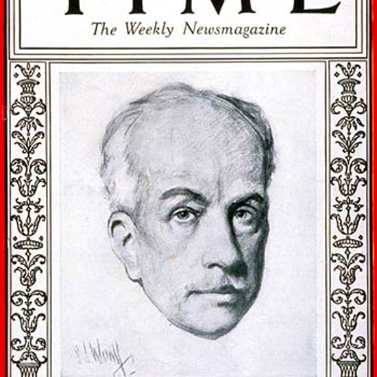 Richard Strauss Time Magazine 1927-01 crop | Best of Vintage Cover Art 1900-1970