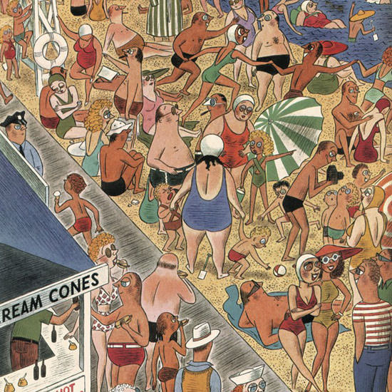 Richard Taylor The New Yorker 1939_07_08 Copyright crop | Best of 1930s Ad and Cover Art