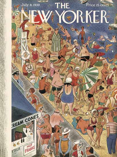 Richard Taylor The New Yorker 1939_07_08 Copyright | The New Yorker Graphic Art Covers 1925-1945
