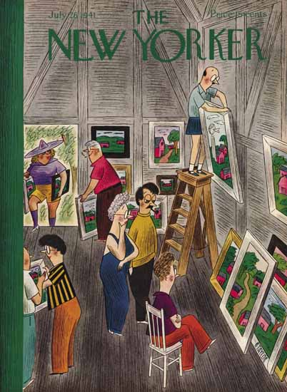 Richard Taylor The New Yorker 1941_07_26 Copyright   The New Yorker Graphic Art Covers 1925-1945