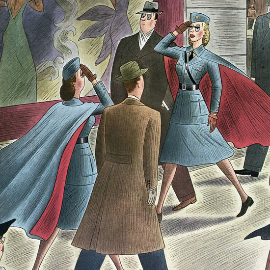 Richard Taylor The New Yorker 1942_01_31 Copyright crop | Best of Vintage Cover Art 1900-1970