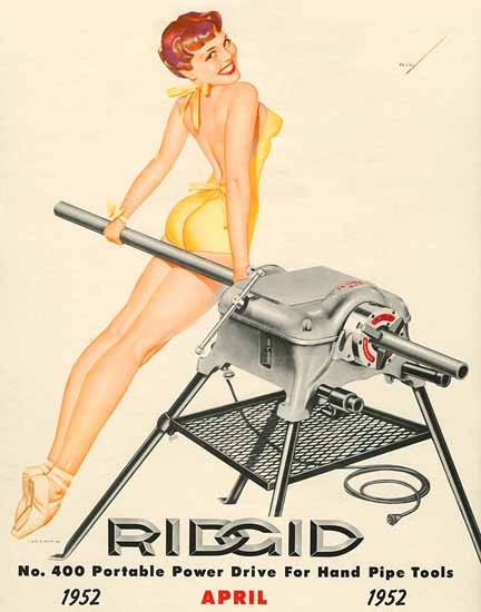 Ridgid Calendar April 1952 Pin-Up Girl George Petty Sex Appeal | Sex Appeal Vintage Ads and Covers 1891-1970