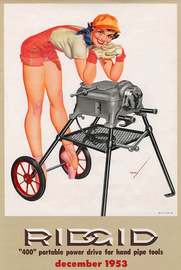 Ridgid George Petty Calendar December 1953 | Sex Appeal Vintage Ads and Covers 1891-1970