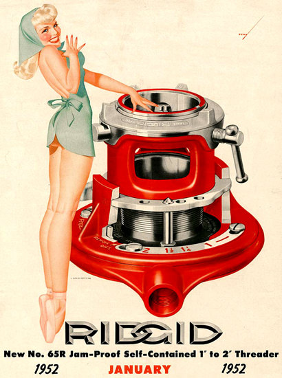 Ridgid George Petty Calendar January 1952 | Sex Appeal Vintage Ads and Covers 1891-1970