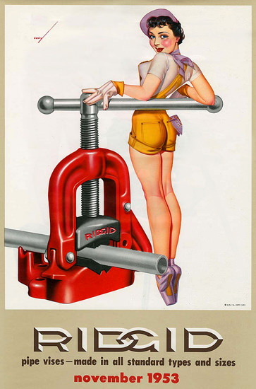 Ridgid George Petty Calendar November 1953 | Sex Appeal Vintage Ads and Covers 1891-1970