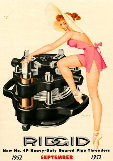 Ridgid George Petty Calendar September 1952 | Sex Appeal Vintage Ads and Covers 1891-1970