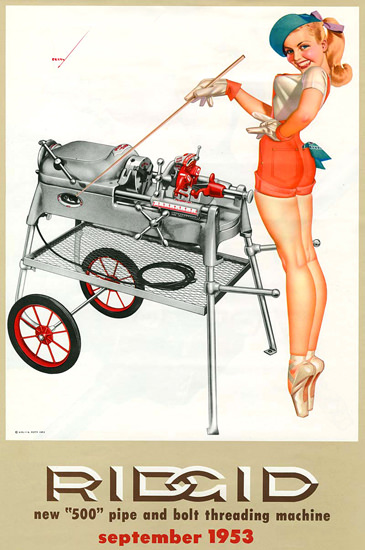Ridgid George Petty Calendar September 1953 | Sex Appeal Vintage Ads and Covers 1891-1970