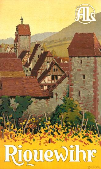 Riquewihr France 1930s | Vintage Travel Posters 1891-1970