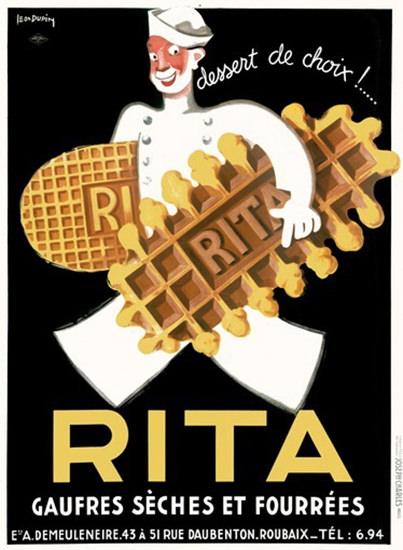 Rita Dessert De Choix Belguim Waffle Biscuit   Vintage Ad and Cover Art 1891-1970
