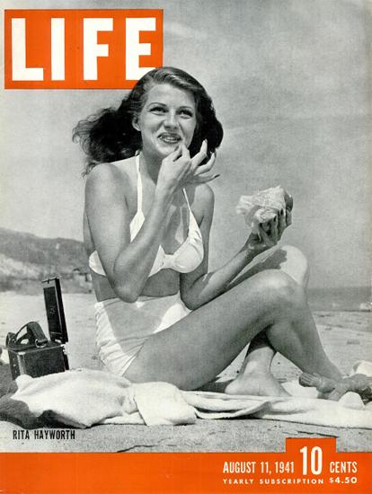 Rita Hayworth 11 Aug 1941 Copyright Life Magazine | Life Magazine BW Photo Covers 1936-1970