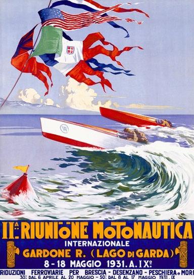Riunione Montonautica Int 1931 Gardone Italia   Vintage Ad and Cover Art 1891-1970