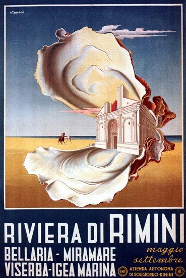 Riviera Di Rimini Italy 1950 Nazzareno Tognacci | Vintage Travel Posters 1891-1970