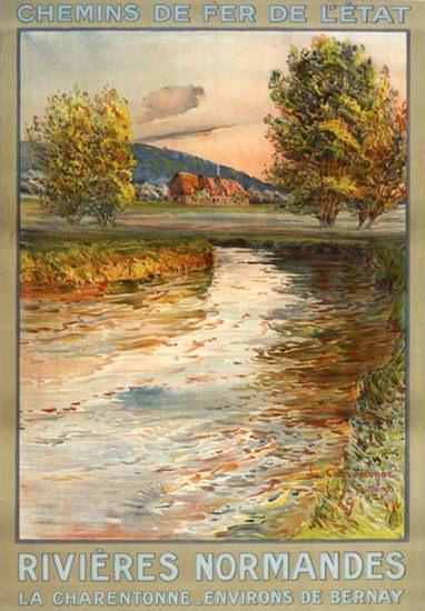 Rivieres Normandes La Charentonne Bernay | Vintage Travel Posters 1891-1970