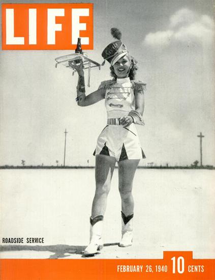 Roadside Service 26 Feb 1940 Copyright Life Magazine   Life Magazine BW Photo Covers 1936-1970