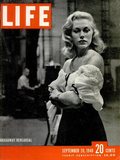 Roadway Rehearsal 20 Sep 1948 Copyright Life Magazine | Life Magazine BW Photo Covers 1936-1970