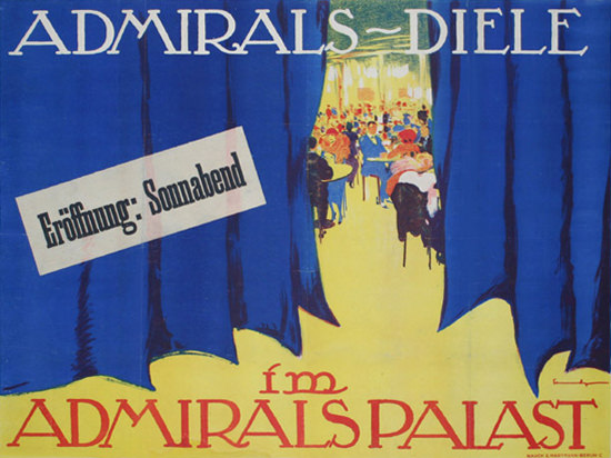 Roaring 1920s Admirals Diele Im Admirals Palast Berlin 1920s | Roaring 1920s Ad Art and Magazine Cover Art