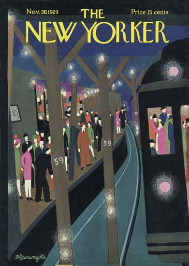Roaring 1920s Adolph Kronengold The New Yorker 1929_11_30 Copyright | Roaring 1920s Ad Art and Magazine Cover Art