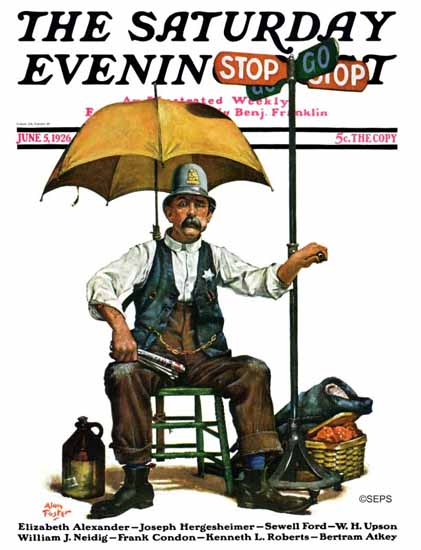 Roaring 1920s Alan Foster Cover Artist Saturday Evening Post 1926_06_05 | Roaring 1920s Ad Art and Magazine Cover Art