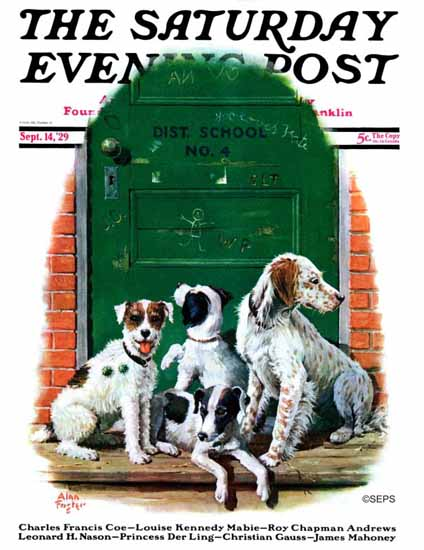 Roaring 1920s Alan Foster Cover Artist Saturday Evening Post 1929_09_14 | Roaring 1920s Ad Art and Magazine Cover Art