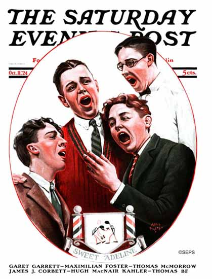 Roaring 1920s Alan Foster Saturday Eve Post Sweet Adeline 1924_10_11 | Roaring 1920s Ad Art and Magazine Cover Art