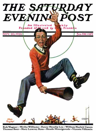 Roaring 1920s Alan Foster Saturday Evening Post Football 1926_11_20   Roaring 1920s Ad Art and Magazine Cover Art