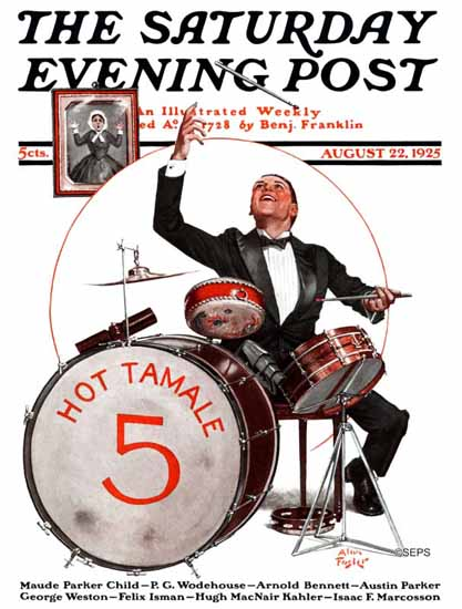 Roaring 1920s Alan Foster Saturday Evening Post Hot Tamale 1925_08_22 | Roaring 1920s Ad Art and Magazine Cover Art