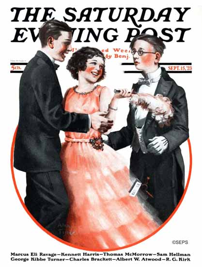 Roaring 1920s Alan Foster Saturday Evening Post The Looser 1923_09_15 | Roaring 1920s Ad Art and Magazine Cover Art