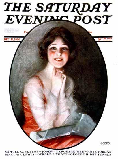 Roaring 1920s Alfredo Galli Artist Saturday Evening Post 1920_12_11 | Roaring 1920s Ad Art and Magazine Cover Art
