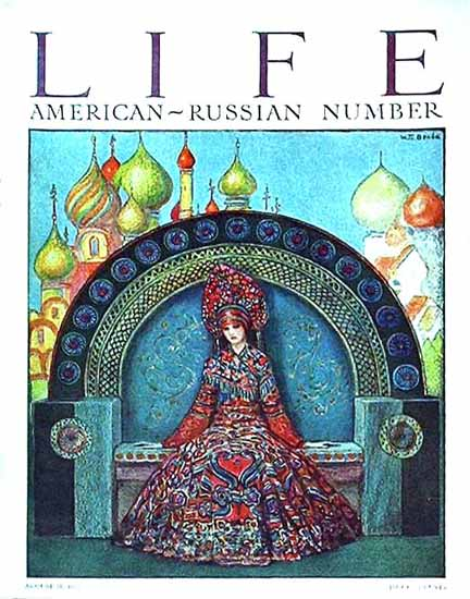 Roaring 1920s American Russian Life Magazine 1922-08-31 Copyright | Roaring 1920s Ad Art and Magazine Cover Art