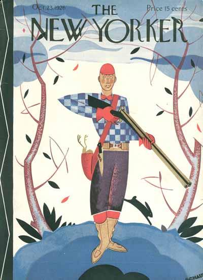 Roaring 1920s Andre De Schaub The New Yorker 1926_10_23 Copyright | Roaring 1920s Ad Art and Magazine Cover Art