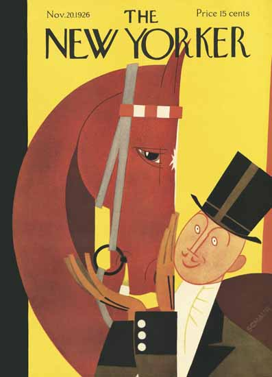Roaring 1920s Andre De Schaub The New Yorker 1926_11_20 Copyright | Roaring 1920s Ad Art and Magazine Cover Art