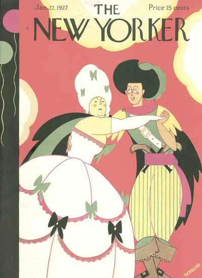 Roaring 1920s Andre De Schaub The New Yorker 1927_01_22 Copyright | Roaring 1920s Ad Art and Magazine Cover Art