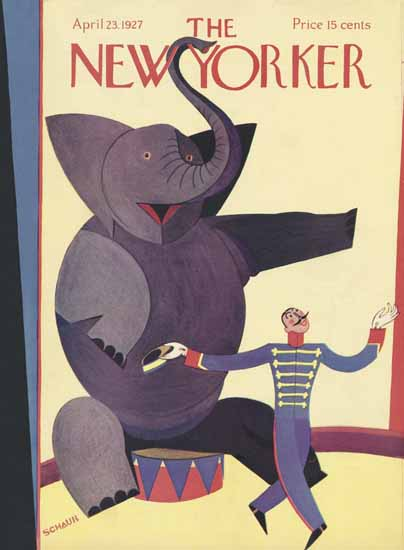 Roaring 1920s Andre De Schaub The New Yorker 1927_04_23 Copyright | Roaring 1920s Ad Art and Magazine Cover Art