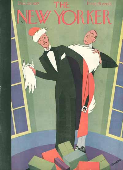Roaring 1920s Andre De Schaub The New Yorker 1927_12_24 Copyright | Roaring 1920s Ad Art and Magazine Cover Art