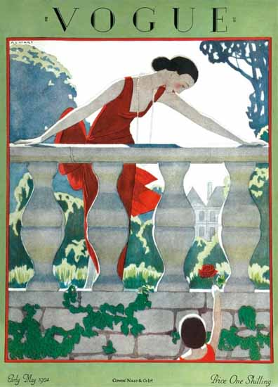 Roaring 1920s Andre E Marty Vogue Cover 1924-05-15 Copyright | Roaring 1920s Ad Art and Magazine Cover Art