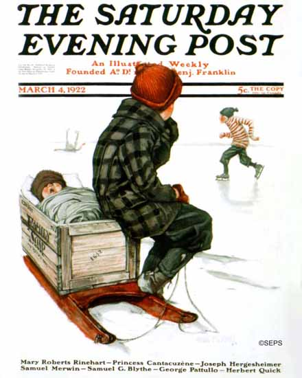 Roaring 1920s Angus MacDonall Saturday Evening Post Cover 1922_03_04 | Roaring 1920s Ad Art and Magazine Cover Art