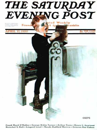 Roaring 1920s Angus MacDonall Saturday Evening Post Hymn 1920_04_17 | Roaring 1920s Ad Art and Magazine Cover Art