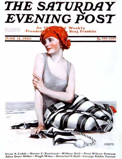Roaring 1920s Anita Parkhurst Cover Saturday Evening Post 1920_06_12 | Roaring 1920s Ad Art and Magazine Cover Art