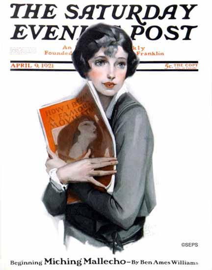 Roaring 1920s Anita Parkhurst Saturday Eve Post Movie Star 1921_04_09 | Roaring 1920s Ad Art and Magazine Cover Art