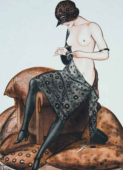 Roaring 1920s Armand Vallee La Vie Parisienne 1921 Fil En Aiguille page   Roaring 1920s Ad Art and Magazine Cover Art
