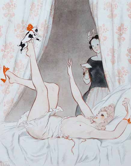 Roaring 1920s Armand Vallee La Vie Parisienne 1923 Fragonard page | Roaring 1920s Ad Art and Magazine Cover Art