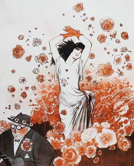 Roaring 1920s Armand Vallee La Vie Parisienne 1928 Compet D Ete page | Roaring 1920s Ad Art and Magazine Cover Art