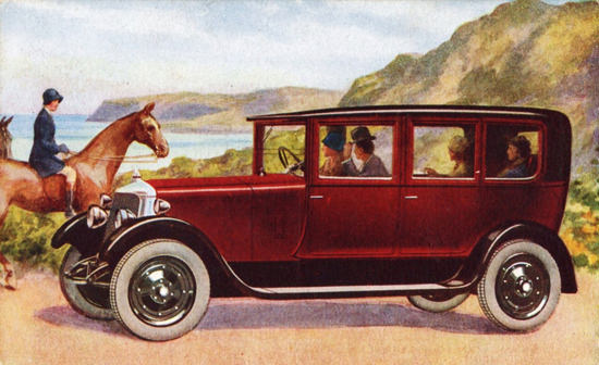 Roaring 1920s Armstrong Siddeley 18 HP Limousine 1923 | Roaring 1920s Ad Art and Magazine Cover Art